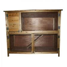 Rabbit shack 5ft double rabbit hutch product dabners for 5 foot rabbit hutch