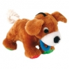 Trixie Plush Dog With Rope Tail Brown