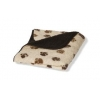 Sherpa Fleece Beige Brown Paw Blanket Medium 76x127cm