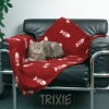 Trixie Fleece Fish Blanket Wine Red 100x70cm