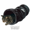 Trixie Crunch Plush Tunnel Dark Grey