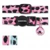 Ancol Cat Collar Velvet Leopard Print Pink
