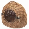 Trixie Wicker Cat Carrier,with Metal Lattice, Ø 50 Cm