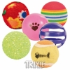 Trixie 6 Play Balls, Assorted, ø 3,5-4 Cm