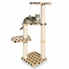 Altea Cat Post Beige With Paw Prints