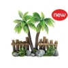Classic Coco Tree Fence & Plants (260mm)