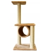 Cat Scratcher Post Double Platform & Tunnel In Beige