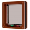 Cat Mate 4-way Locking + Liner Cat Flap Brown