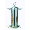 Harrisons Silo Brushed Steel Seed Feeder 28cm
