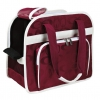 Alisha Carrier Bordeaux/cream  20 × 32 × 39 Cm