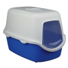 Vico Litter Tray, With Dome Blue/white 40 × 40 × 56 Cm