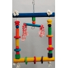 Colourful Blocks Bird Swing