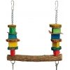 Colourful Blocks Bird Swing With Keys