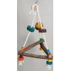 Hanging Triangular Cotton Rope Swing Small