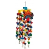 Xl Hanging Toy With Colourful Wood Blocks, Rope Sisal And Beads